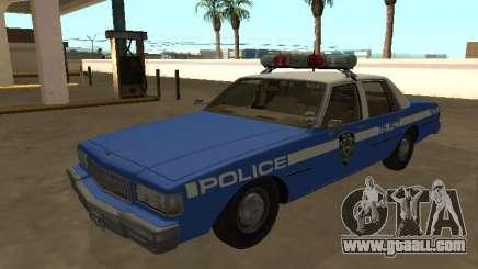 Chevrolet Caprice 1987 New York Police Dept for GTA San Andreas
