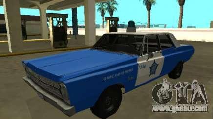 Plymouth Belvedere 4 door 1965 Chicago Police De for GTA San Andreas