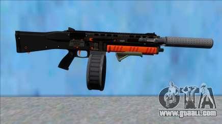 GTA V Vom Feuer Assault Shotgun Orange V13 for GTA San Andreas