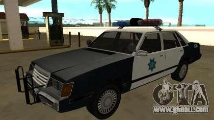 Ford LTD LX 1985 San Francisco Police dept for GTA San Andreas