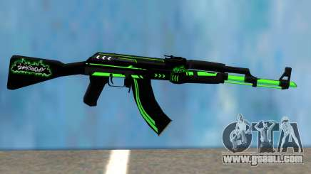 AK47 GREEN LINE for GTA San Andreas
