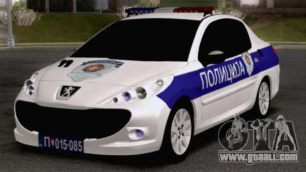 Peugeot 207 Policija for GTA San Andreas