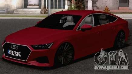 Audi A7 2020 TR Plates for GTA San Andreas