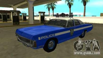 Dodge Polara 1972 New York Police Dept for GTA San Andreas