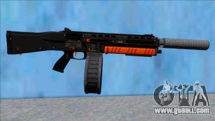 GTA V Vom Feuer Assault Shotgun Orange V7 for GTA San Andreas
