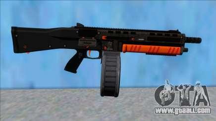 GTA V Vom Feuer Assault Shotgun Orange V14 for GTA San Andreas