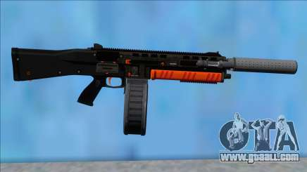 GTA V Vom Feuer Assault Shotgun Orange V1 for GTA San Andreas