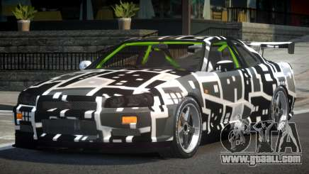 Nissan Skyline R34 GST-R PJ1 for GTA 4