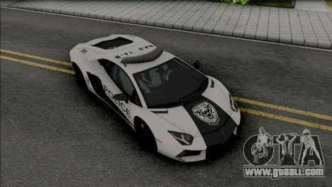 Lamborghini Aventador LP700-4 Police Rio for GTA San Andreas