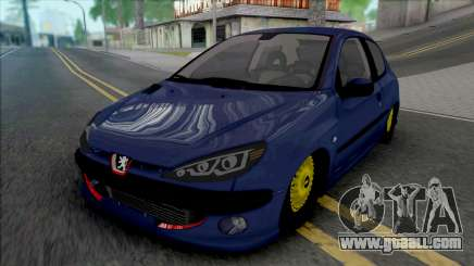 Peugeot 206 by ErFan for GTA San Andreas
