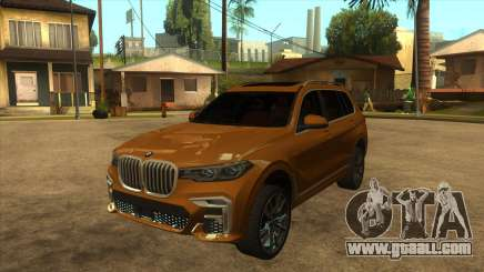 BMW X7 M50D for GTA San Andreas