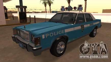 Ford Granada 1977 NYPD (Marbella GTA IV) for GTA San Andreas