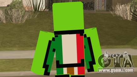 Mexican Dream Minecraft Skin for GTA San Andreas