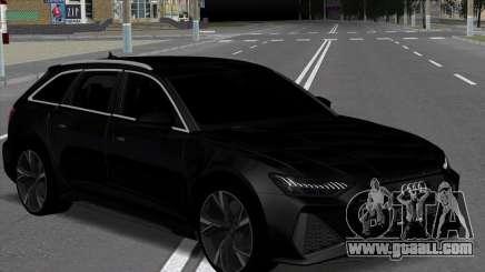 Audi RS6 Avant Black for GTA San Andreas
