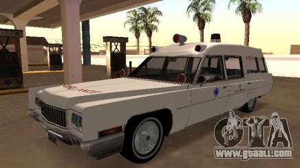 Cadillac Fleetwood 1970 Ambulance for GTA San Andreas