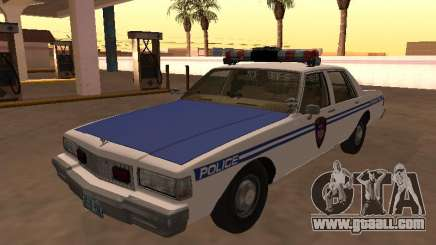 Chevy Caprice 1987 NYPDT Police Edited Version for GTA San Andreas