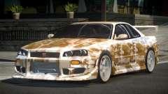 Nissan Skyline R34 GT-R PSI PJ9 for GTA 4