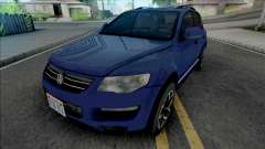 Volkswagen Touareg 2012 Blue for GTA San Andreas