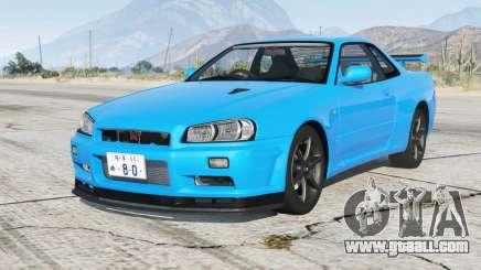 Nissan Skyline GT-R V-spec II (BNR34) 2000〡add-on for GTA 5