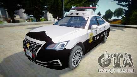 2016 Toyota Crown Patrol Car (210系) for GTA San Andreas