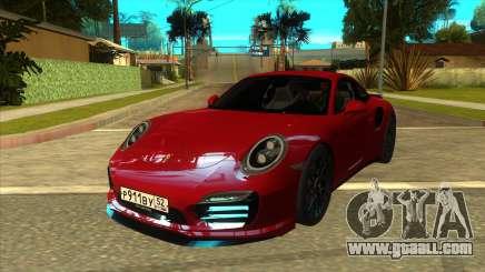 Porsche 911 Turbo S Black for GTA San Andreas