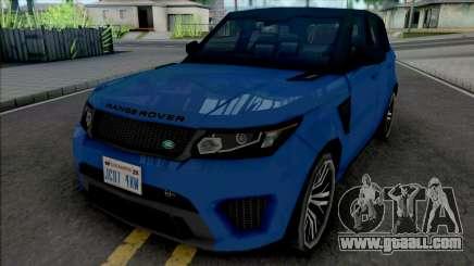 Land Rover Range Rover Sport SVR 2017 Improved for GTA San Andreas