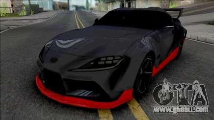Toyota GR Supra Grey for GTA San Andreas