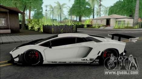 Lamborghini Aventador LP700-4 LB Limited Edition for GTA San Andreas