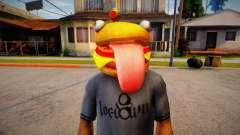 Fortnite Durr Burger Mask for Cj for GTA San Andreas