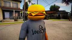 Burger Mask For CJ for GTA San Andreas