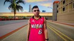 GTA Online Skin Ramdon N23 Male Miami Heat Lebro for GTA San Andreas