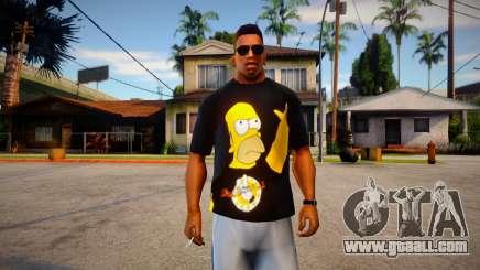 Homer T-Shirt for GTA San Andreas
