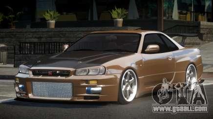 Nissan Skyline R34 BS GT-R V1.2 for GTA 4