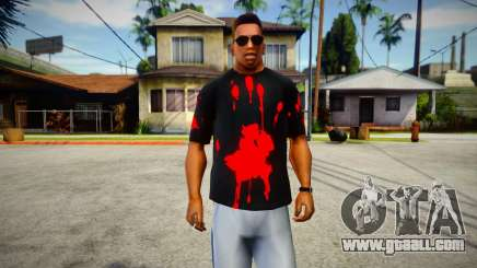 Bloody Print T-Shirt for GTA San Andreas
