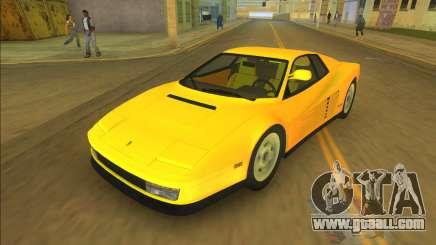 Ferrari Testarossa 1984 for GTA Vice City
