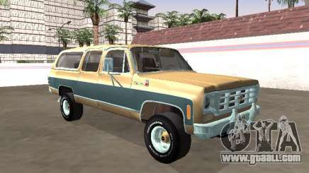 1974 Chevrolet Suburban Deluxe for GTA San Andreas