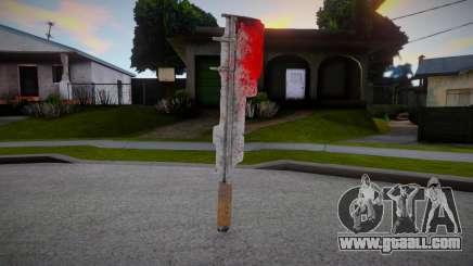 Bloody machete for GTA San Andreas