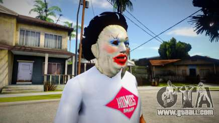 Lady - Leatherface Mask for GTA San Andreas