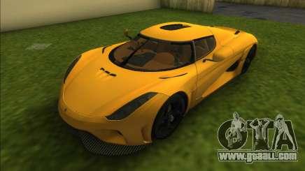 Koenigsegg Regera 2015 for GTA Vice City