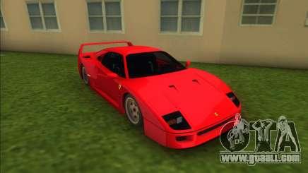 Ferrari F40 (Good car) for GTA Vice City
