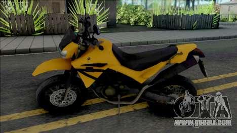 Yamaha XT660 Yellow for GTA San Andreas