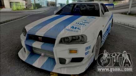 Nissan Skyline GT-R R34 C-West for GTA San Andreas