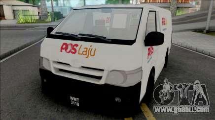 Toyota Hiace PosLaju Malaysian Van for GTA San Andreas