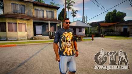 T-shirt with a lion for GTA San Andreas