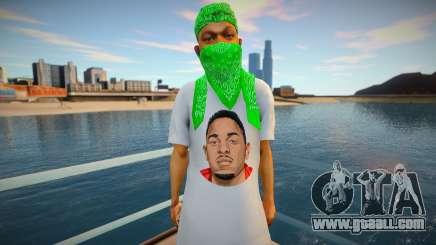 Kendrick Lamar Grove style for GTA San Andreas
