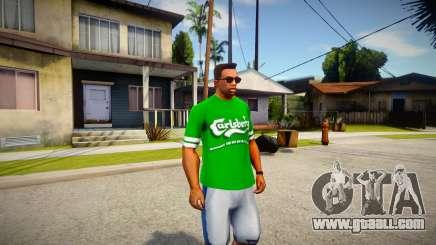T-shirt Carlsberg for GTA San Andreas