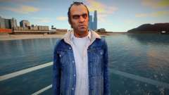 Trevor with blue jeans jacket from GTA 5 for GTA San Andreas