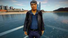 Russian mobster in leather jacket for GTA San Andreas