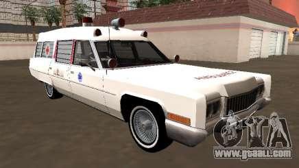 Cadillac Fleetwood Wagon 1970 Ambulance for GTA San Andreas