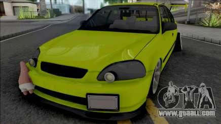 Honda Civic 1.6 iES Yellow for GTA San Andreas